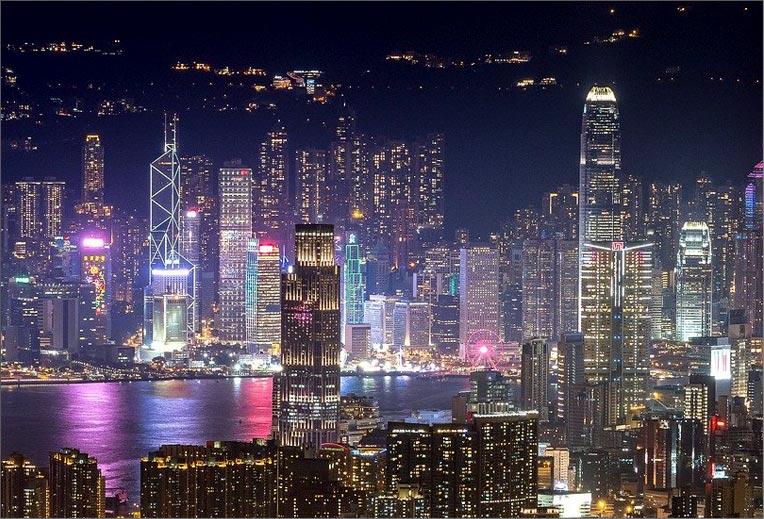 night time Hong Kong