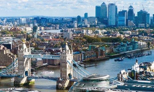 London bridge and skyline